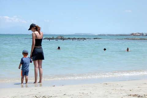 Urlaub, Strand und Sonnenbrand