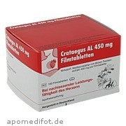 Crataegus Al 450mg Filmtabletten Aliud Pharma GmbH