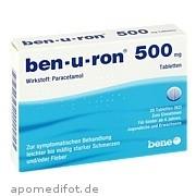 ben - u - ron 500mg Tabletten bene Arzneimittel GmbH