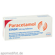 Paracetamol Stada 500mg<br>Tabletten