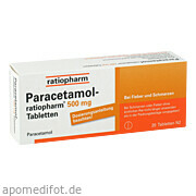 Paracetamol - ratiopharm<br>500mg Tabletten
