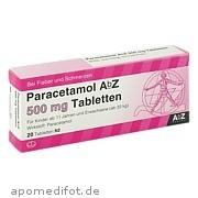 Paracetamol AbZ 500mg Tabletten AbZ Pharma GmbH