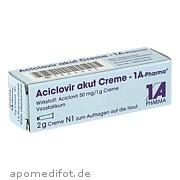 Aciclovir akut Creme  -  1a - Pharma 1 A Pharma GmbH