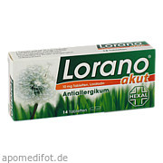 Lorano akut Tabletten ab 1,28 Euro