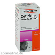 Cetirizin ratiopharm Saft ab 1,53 Euro