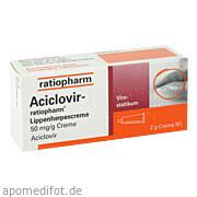 Aciclovir ratiopharm Lippenherpescreme ab 1,09 Euro