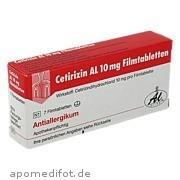Cetirizin Al 10mg Filmtabletten Aliud Pharma GmbH