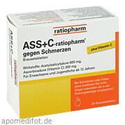 Ass  +  C - ratiopharm gegen Schmerzen ratiopharm GmbH