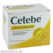 Cetebe Vitamin C<br>Retard 500