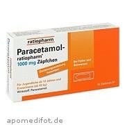 Paracetamol - ratiopharm<br>1000mg Zäpfchen