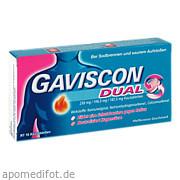 Gaviscon Dual 250mg/106.<br>5mg/187. 5mg