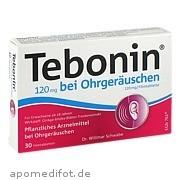 Tebonin 120 mg bei<br>Ohrgeräuschen