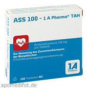 Ass 100  -  1 A Pharma<br>Tah
