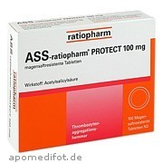 Ass - ratiopharm Protect<br>100mg