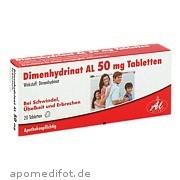 Dimenhydrinat Al<br>50 mg Tabletten