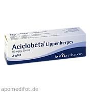 Aciclobeta Lippenherpes Creme betapharm Arzneimittel GmbH