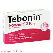 Tebonin Konzent 240mg Filmtabletten Dr. Willmar Schwabe GmbH & Co. Kg