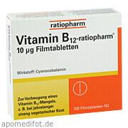 Vitamin - B12 - ratiopharm<br>10ug Filmtabletten