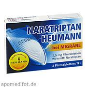 Naratriptan Heumann<br>bei Migräne 2. 5<br>mg Filmtabl.
