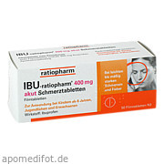 Ibu - ratiopharm 400mg akut Schmerztabletten ratiopharm GmbH