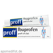 Ibuprofen proff 5<br>% Gel
