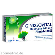Ginkgovital Heumann 240 mg Filmtabletten Heumann Pharma GmbH & Co.  Generica Kg