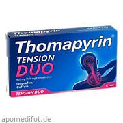 Thomapyrin Tension Duo 400 mg/100mg Filmtabletten Sanofi - Aventis Deutschland GmbH Gb Selbstmedikation /Consumer - Care