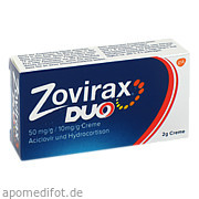 Zovirax Duo 50 mg/g<br>/ 10 mg/g